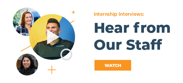 Watch our internship interviews: Hear from Our Staff